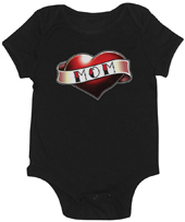 Love Mom Tattoo Girl's Onesie