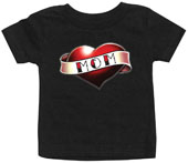 Love Mom Tattoo Girl's Baby Tee
