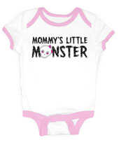 Mommy's Little Monster Girl's Onesie