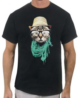 hip-cat-mens-black-tshirt