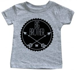 arrow-badge-hipster-lil-brother-amazon-heather-grey-baby-shirt