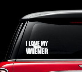 I Love My Wiener Decal