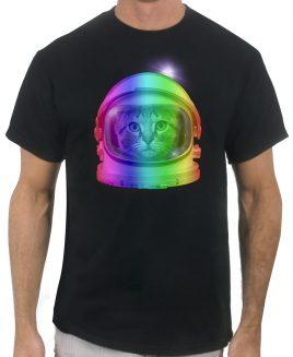 astronaut-cat-black-men-tshirt