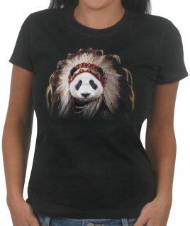 Panda-Chief-girls-black-tshirt