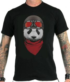 motorcycle-panda-black-tshirt
