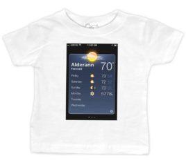 alderaan-forecast-White-Baby-Tee